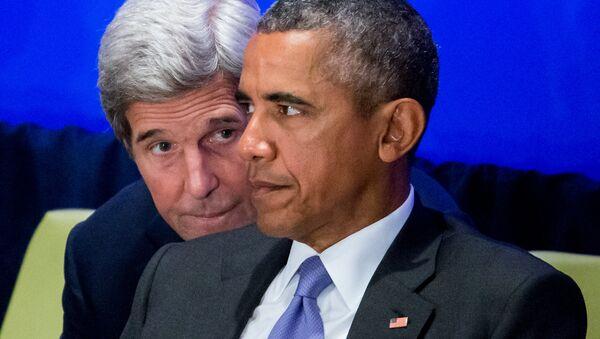 John Kerry i Barack Obama - Sputnik Polska