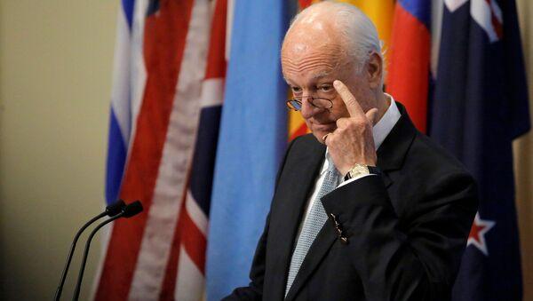 Specjalny wysłannik ONZ do Syrii Staffan de Mistura - Sputnik Polska