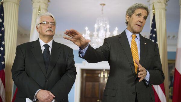 Witold Waszczykowski i John Kerry - Sputnik Polska
