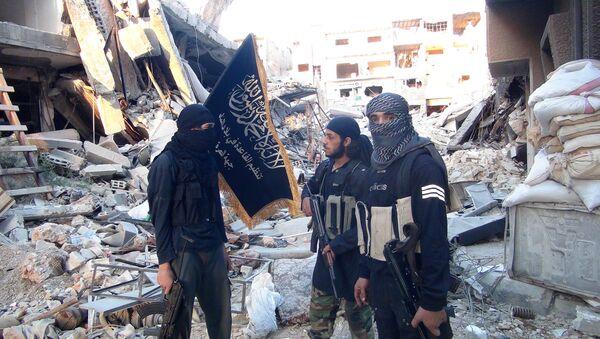 Bojownicy organizacji terrorystycznej Dżabhat an-Nusra (która ostrzelała rosyjską ambasadę) w okolicach Damaszku - Sputnik Polska