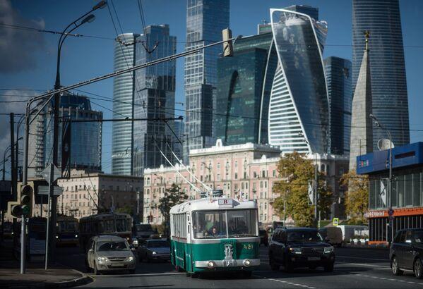 Święto moskiewskich trolejbusów w Moskwie - Sputnik Polska