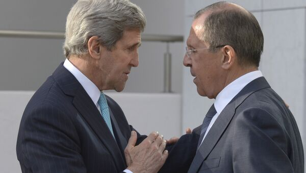 Minitser spraw zagranicznych Siergiej Ławrow i sekretarz stanu USA John Kerry - Sputnik Polska