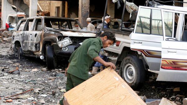 Nalot na żałobników w Jemenie. Demonstracje i wezwania do mobilizacji sił - Sputnik Polska