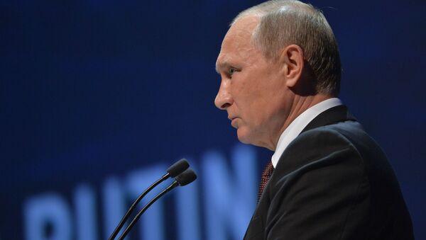 Prezydent Rosji Władimir Putin podczas 23. Światowego Kongresu Energetycznego w Stambule - Sputnik Polska