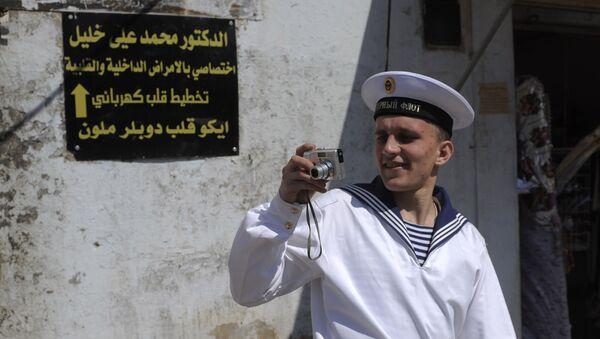 Rosyjski marynarz w syryjskim Tartusie - Sputnik Polska