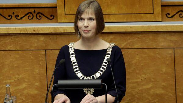 Prezydent Estonii Kersti Kaljulaid w Tallinnie  - Sputnik Polska