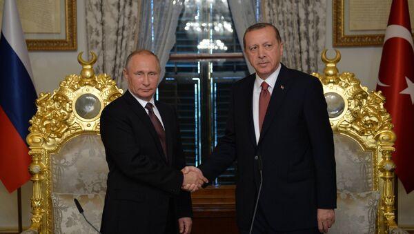 Wizyta prezydenta Rosji Władimira Putina w Stambule, 10 października 2016 - Sputnik Polska