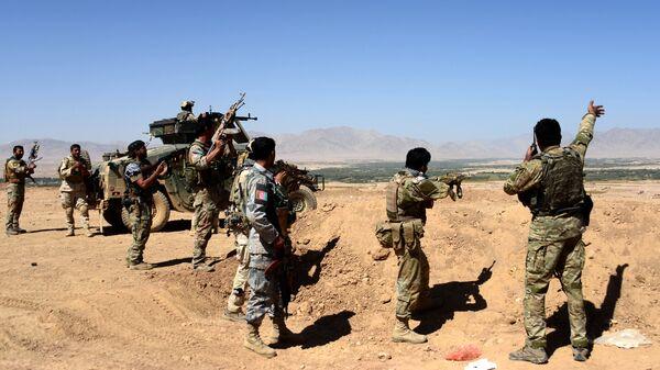 Operacja afgańskich sił bezpieczeństwa przeciwko talibom - Sputnik Polska