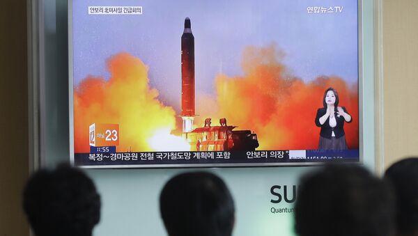 Start rakiety Korei Północnej - Sputnik Polska