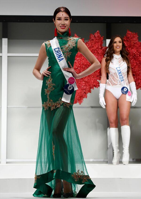 Miss Chin podczas konkursu Miss International Beauty Pageant 2016 w Tokio - Sputnik Polska