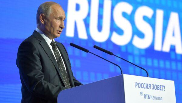 Prezydent Rosji Władimir Putin występuje na forum Rosja woła! - Sputnik Polska