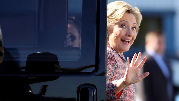 Kandydat na prezydenta USA z Partii Demokratycznej Hillary Clinton - Sputnik Polska
