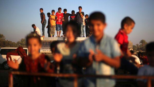 Palestyńskie dzieci w czasie Festiwalu w Strefie Gazy - Sputnik Polska