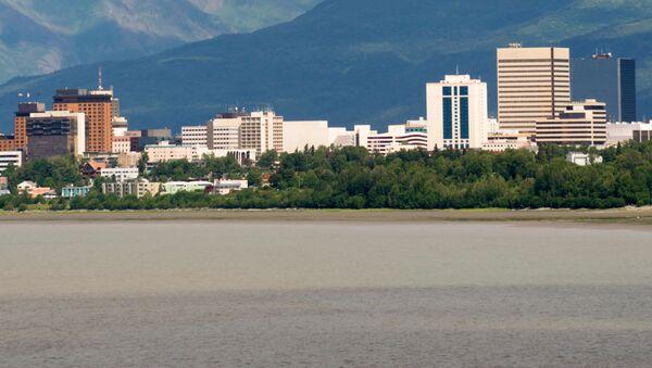 Miasto Anchorage  w stanie Alaska nad Zatoką Cooka - Sputnik Polska