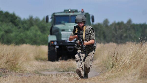 Ćwiczenia ukraińskich wojsk granicznych - Sputnik Polska
