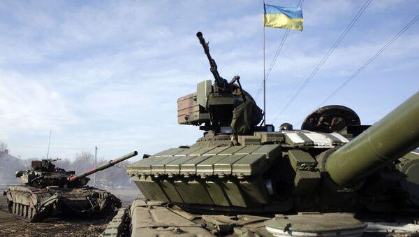 Ukraińskie czołgi na punkcie kontrolnym pod Gorłówką - Sputnik Polska