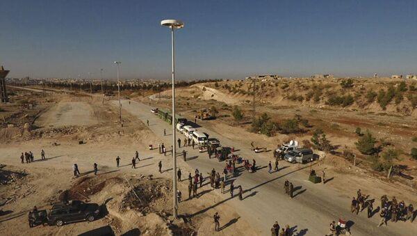Sytuacja w Aleppo, rejon korytarzy humanitarnych - Sputnik Polska
