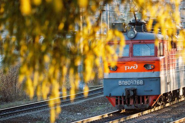 Kolej Wschodniosyberyjska w rejonie stacji Bolszoj Ług w obwodzie irkuckim. - Sputnik Polska