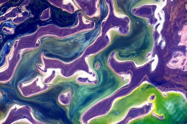 Zdjęcie Ziemi wykonane przez astronautę Scotta Kelly'ego z Międzynarodowej Stacji Kosmicznej. - Sputnik Polska
