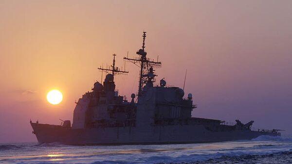 Krążownik amerykański Vella Gulf na Morzu Czarnym - Sputnik Polska