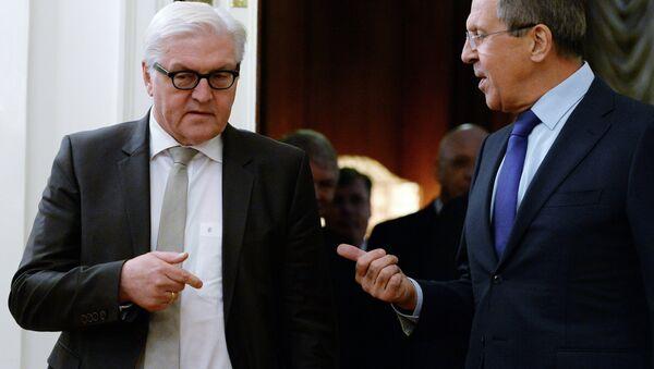 Szefowie MSZ Rosji i Niemiec - Sputnik Polska