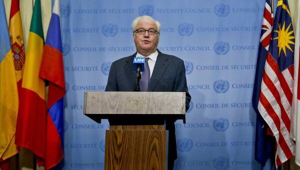 Stały przedstawiciel Rosji w ONZ Witalij Czurkin - Sputnik Polska