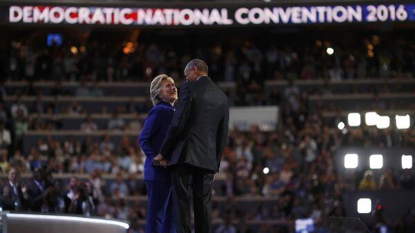 Prezydent USA Barack Obama i kandydatka na prezydenta z ramienia Partii Demokratycznej Hillary Clinton - Sputnik Polska
