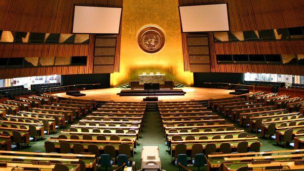 Sala Zgromadzenia Ogólnego ONZ - Sputnik Polska