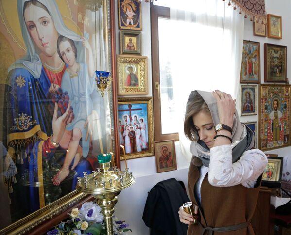 """Specjanie dla kaplicy przygotowano unikalną mozaikową Ikonę Matki Bożej """"Władającą"""". - Sputnik Polska"""