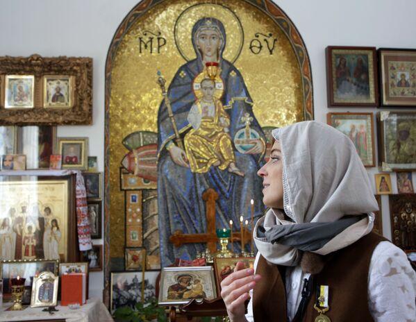 Została ona wykonana przez moskiewskich mistrzów z naturalnego kamienia. Ikona została wykonana analogicznie do mozaiki w soborze św. Sofii w Konstantynopolu. - Sputnik Polska