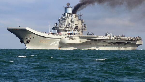 Rosyjski lotniskowiec Admirał Kuzniecow - Sputnik Polska