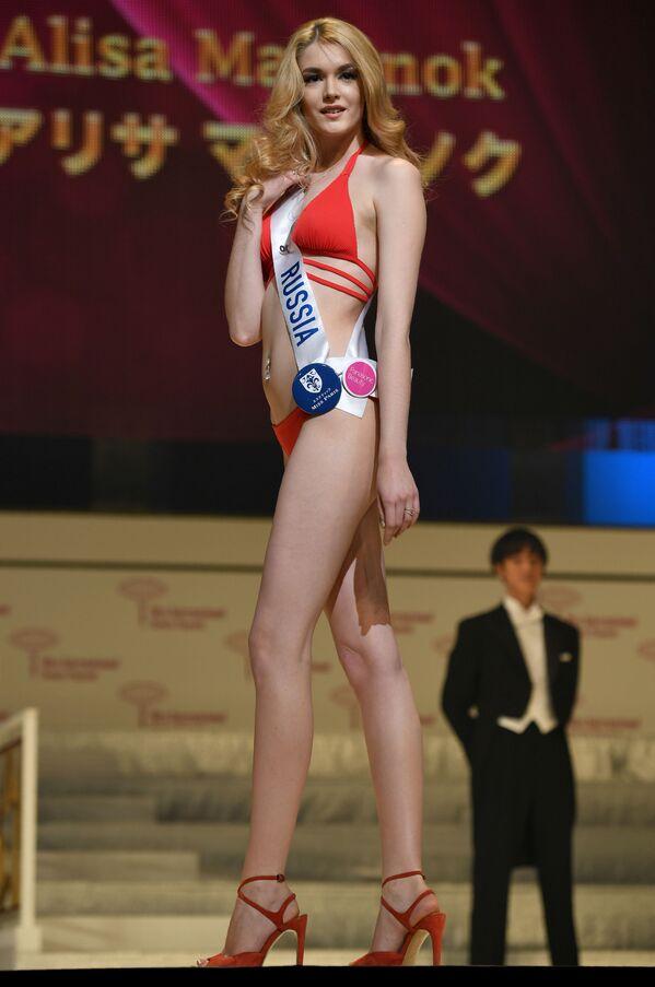 Miss Rosja Alisa Manienok podczas prób finału konkursu piękności Miss International Beauty Pageant  w Tokio - Sputnik Polska