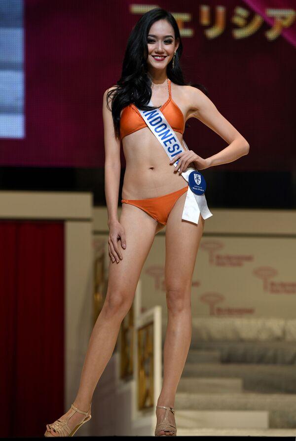 Miss Indonezja podczas prób finału konkursu piękności Miss International Beauty Pageant  w Tokio - Sputnik Polska
