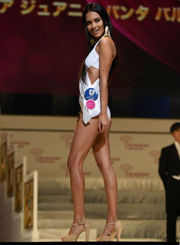 Miss Peru podczas prób finału konkursu piękności Miss International Beauty Pageant  w Tokio - Sputnik Polska