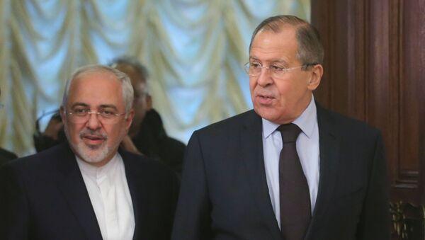 Minister spraw zagranicznych Rosji Siergiej Ławrow i szef MSZ Iranu Mohammed Zarif - Sputnik Polska
