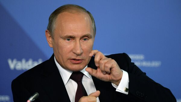 Władimir Putin na spotkaniu Klubu Wałdajskiego - Sputnik Polska