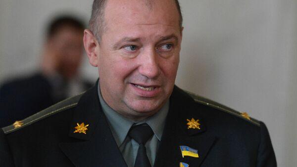 Były dowódca batalionu nacjonalistycznego Ajdar, deputowany ludowy Rady Najwyższej Ukrainy Siergiej Melniczuk - Sputnik Polska
