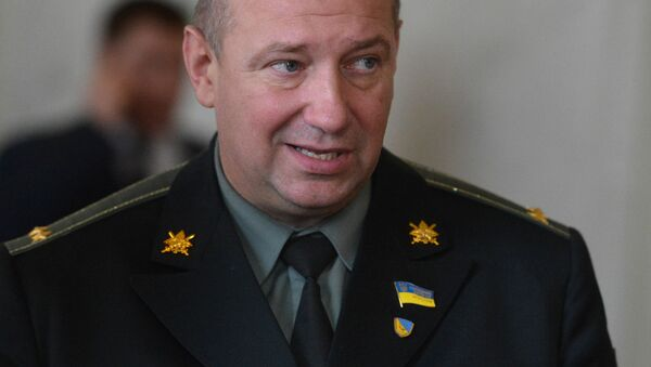 Były dowódca batalionu ochotniczego Ajdar, deputowany ludowy Siergiej Melniczuk na posiedzeniu Rady Najwyższej Ukrainy w Kijowie - Sputnik Polska