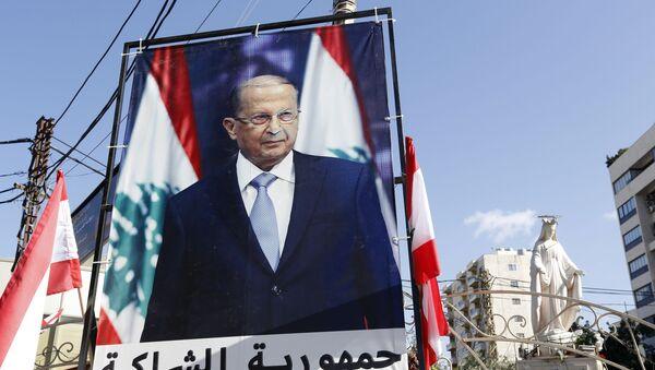 Prezydent Libanu Michel Aoun - Sputnik Polska