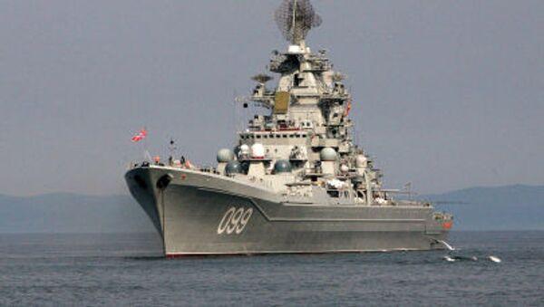 Тяжелый атомный ракетный крейсер Северного флота Петр Великий - Sputnik Polska