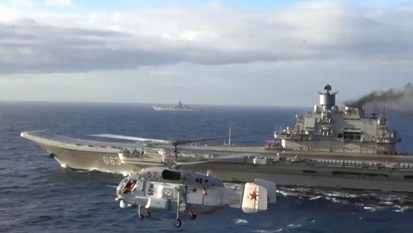 Admirał Kuzniecow na Morzu Śródziemnym - Sputnik Polska