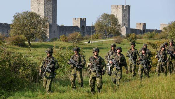 Szkolenie jednostki wojskowej na wyspie Gotland - Sputnik Polska