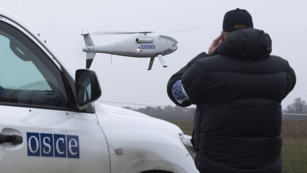 Start drona OBWE w okolicach Mariupola, Ukraina - Sputnik Polska