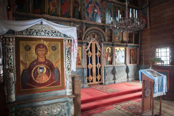 Podczas świąt prawosławnych w cerkwi odbywaja się nabożeństwa, przeważnie latem. - Sputnik Polska