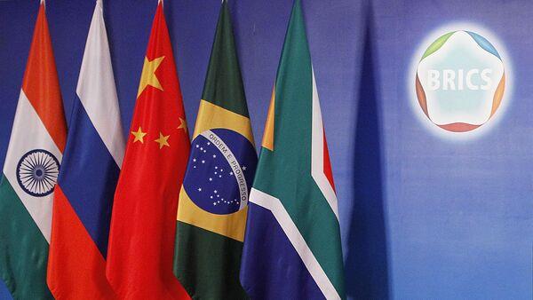 Flagi krajów członkowskich BRICS - Sputnik Polska