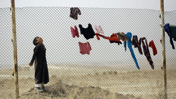 Tymczasowy obóz ONZ dla uchodźców w Mosulu - Sputnik Polska