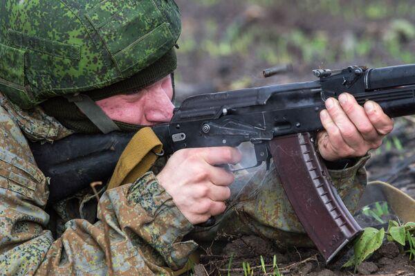 Serbię w ćwiczeniach reprezentują wojskowi Brygady Sił Specjalnych Sił Zbrojnych Republiki Serbii. - Sputnik Polska