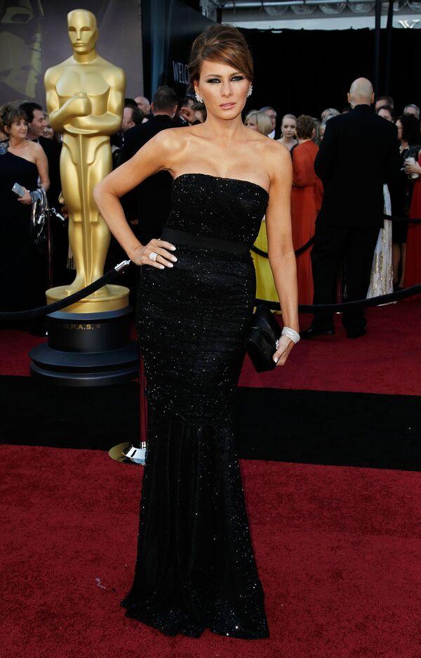 Melania Trump podczas 83. ceremonii wręczenia Oscarów w  2011 roku. - Sputnik Polska