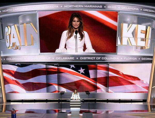 Przemówienie Melanii Trump było głównym wydarzeniem na Narodowej Konwencji Republikanów w Cleveland. - Sputnik Polska
