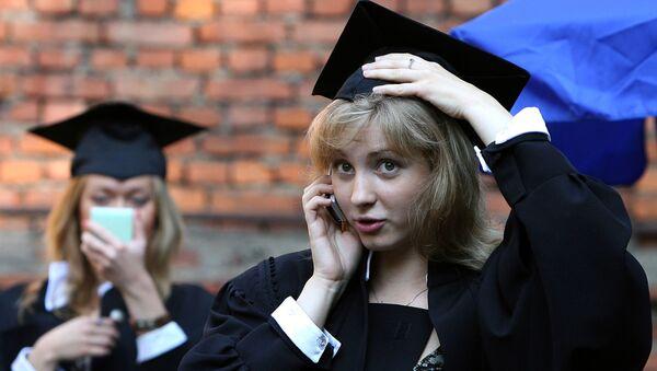 Wręczenie dyplomów absolwentom Moskiewskiego Państwowego Uniwersytetu Lingwistycznego - Sputnik Polska
